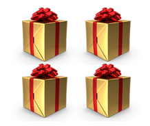 Encart - 4 cadeaux